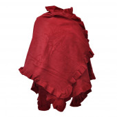 Poncho cape Butterfly, rouge