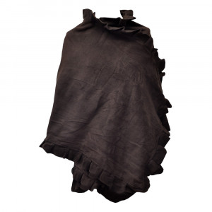 Poncho cape Butterfly, marron