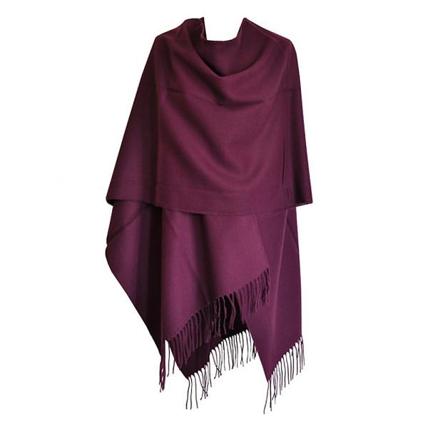 choisir authentique moins cher conception populaire Poncho violet avec franges pour femme - Acheter ponchos ...