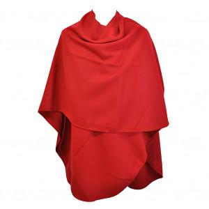 Poncho rouge arrondi
