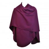 Poncho violet arrondi