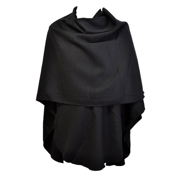 poncho noir arrondi ponchos femme toutacoo. Black Bedroom Furniture Sets. Home Design Ideas
