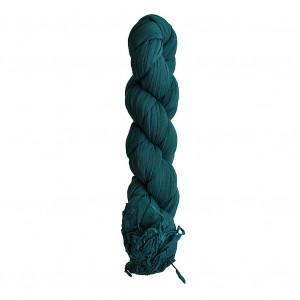Chèche bleu vert indien torsadé
