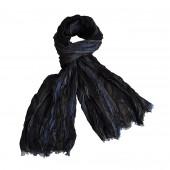 Chèche Carven bicolore noir/bleu