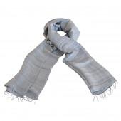 Foulard en soie sauvage gris clair