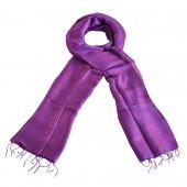 Foulard en soie sauvage violet