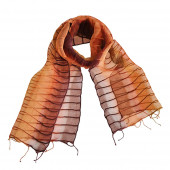 Foulard en soie, Chemin d'orient rouille