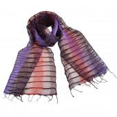 Foulard en soie, Chemin d'orient violet