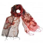 Foulard en soie, Feu d'artifice rouge