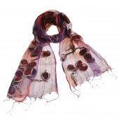 Foulard en soie, Trèfle magique violet