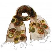 Foulard en soie, Accroche cœoeur vert