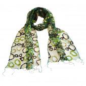 Foulard en soie, Bubble vert