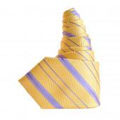 Cravate Soleil Parme