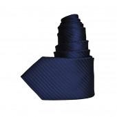 Cravate rayée bleu noir