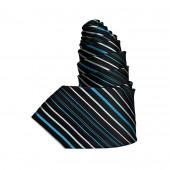 Cravate rayée Dandy bleu