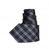 Cravate tartan gris