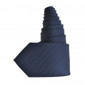 Cravate bleue pointilliste