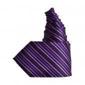 Cravate violette oblique