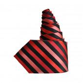 Cravate rouge/noir oblique XXL