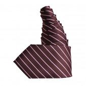 Cravate marron-rose