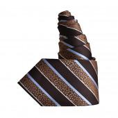 Cravate Bijou marron-ciel