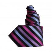 Cravate parme/noir oblique XXL