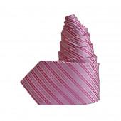 Cravate Oblique rose