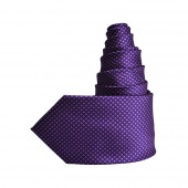 Cravate Cubes violette