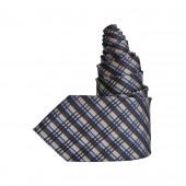 Cravate tartan tricolore
