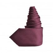 Cravate Cubes bordeaux