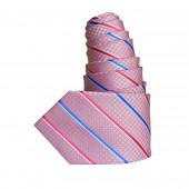 Cravate Croisillon rose