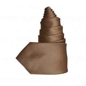Cravate Plumetis marron glacé