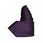 Cravate Plumetis purple