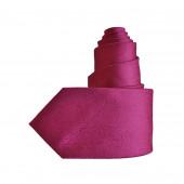 Cravate en soie rose magenta