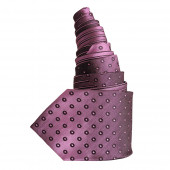 Cravate en soie violette