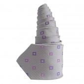 Cravate en soie grise