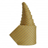 Cravate en soie jaune doré