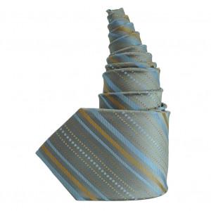Cravate en soie gris bleu