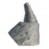 Cravate en soie gris argenté