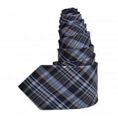 Cravate à carreaux bleus