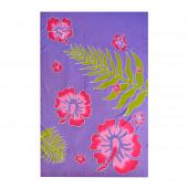 Paréo batik hibiscus et ramage