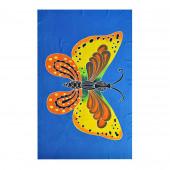Paréo batik papillon jaune