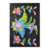 Paréo batik noir fleuri