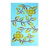 Paréo batik fleurs turquoise