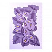 Paréo batik violet et blanc
