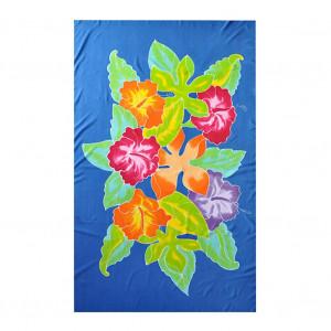 Paréo batik bleu