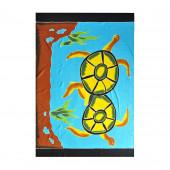 Paréo batik tortues amoureuses