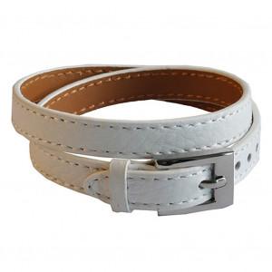Bracelet en cuir blanc