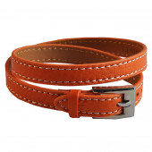 Bracelet en cuir orange