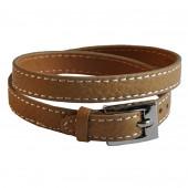 Bracelet en cuir camel